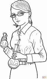 Scientist Coloring Drawing Woman Svg Pages Female Chemist Scientists Draw Commons Printable Wikimedia Pixels 1257 2082 Fifty Students Ago Through sketch template
