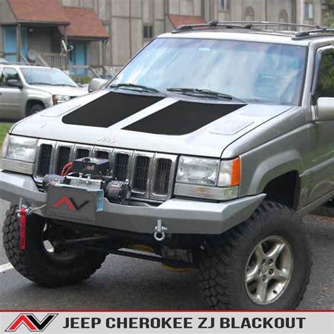 jeep grand cherokee blackout jeep cherokee zj 93 98 blackout alphavinyl