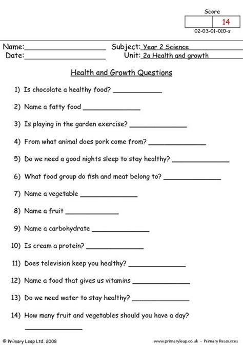 health and growth questions primaryleap co uk