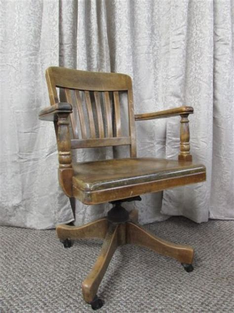 lot detail antique wooden office chair by b l marble