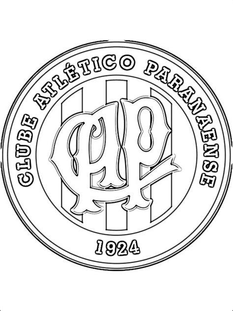 logo del clube atletico paranaense  colorear dibujos  colorear
