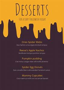 Conference Brochure Halloween Dessert Menu Template Design Flipsnack