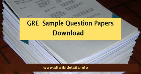 gre model papers  answers