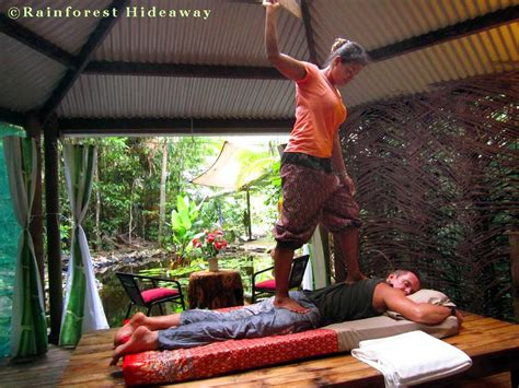 thai massage  cape tribulation   daintree rainforest