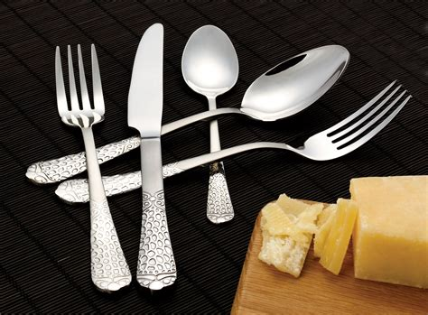 flatware finish mirror piece brushed service lorenzoimport cookware