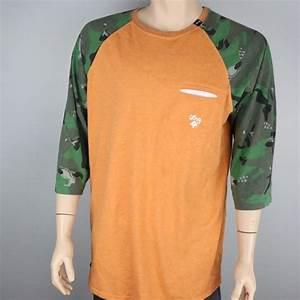 Lrg Shirts Lrg Premium 34 Sleeve Ringer Shirt Orange
