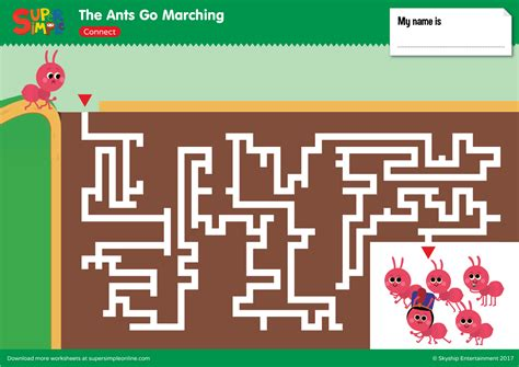 ants  marching maze super simple