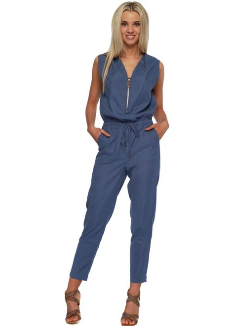 designer jumpsuits blue sleeveless jumpsuit designer jumpsuit
