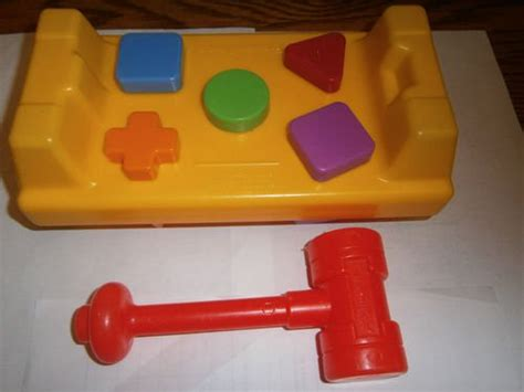 fisher price tap  turn hammer work bench shapes