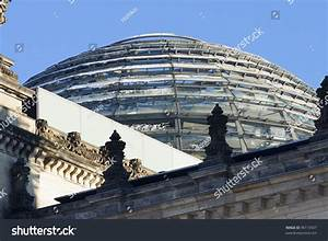 Reichstag Building Sphere Roof Berlin Germany Stock Photo ...