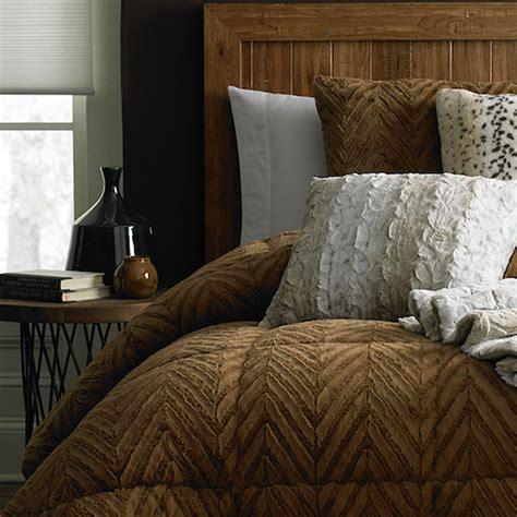 14274 fur bed set cannon fur comforter caramel cognac sears