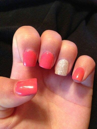 acrylic nails solid color solid color acrylic glitter nail nail designs