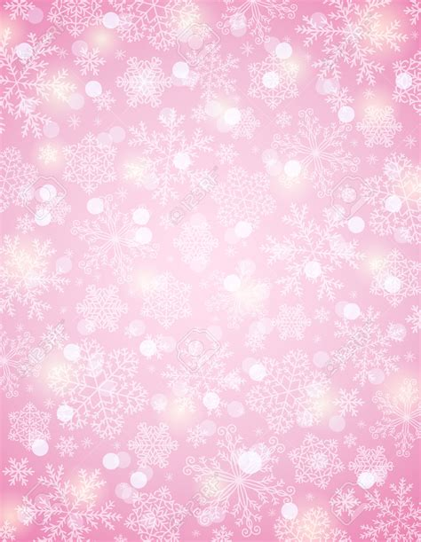 pink background with snowflakes vector illustration the