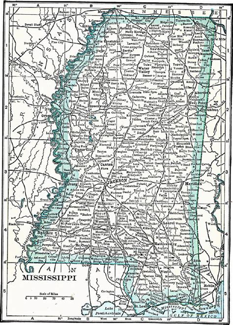 Mississippi Maps Cities and Towns