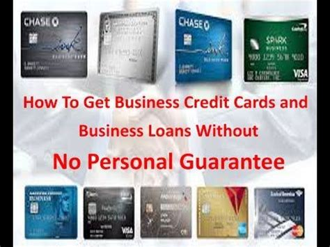 business credit cards   personal guarantee