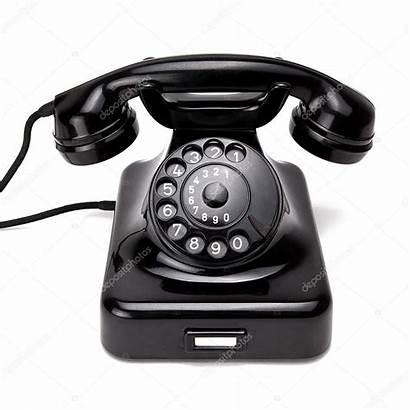 Telefon Retro Telefono Schwarzes Stockbild Phone Rclassenlayouts
