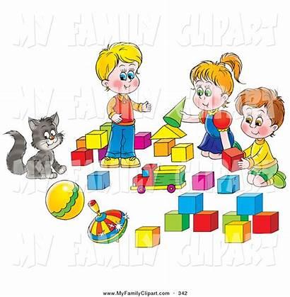 Clipart Play Clip Blocks Preschool Boys Cat