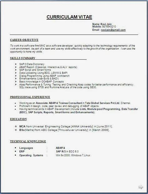 The Best Resume Format Exles by Resume With Photo Format Best Resume Gallery