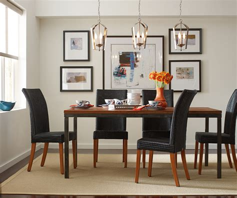 gather pendants dining room table contemporary