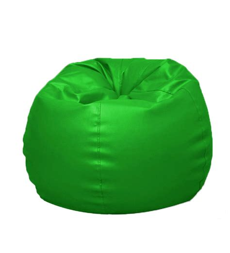 pebbleyard l classic green bean bag with beans by