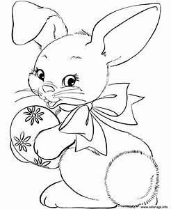Oeuf Paques Dessin : coloriage lapin bunny avec oeuf paques ~ Melissatoandfro.com Idées de Décoration