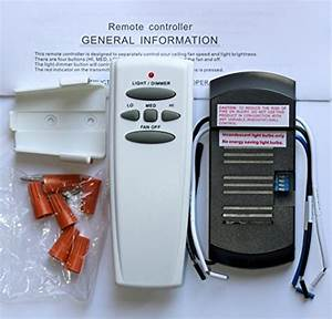 Universal ceiling fan remote control kit import it all