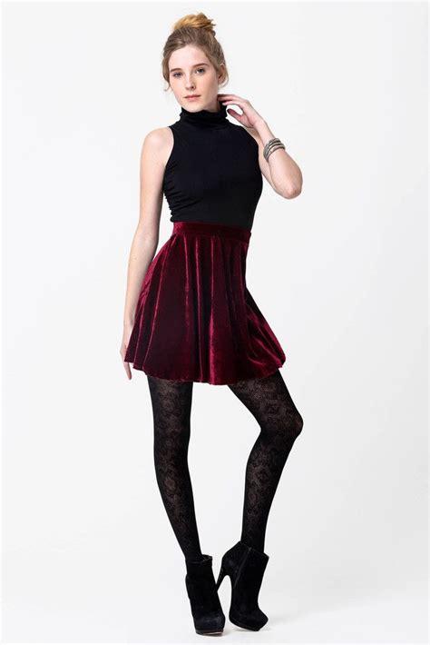 Red Velvet Flare Mini Skirt | I need more money! | Pinterest | Mini skirts