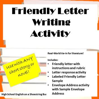 friendly letter writing activity works