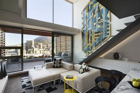Clever Contemporary Penthouse by Trendy Cape Town Waterfront Duplex Penthouse Apartment