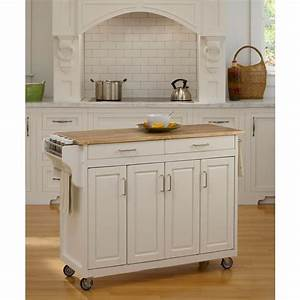 home styles create a cart white kitchen cart with natural With kitchen colors with white cabinets with sticker printer walmart