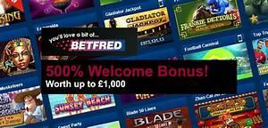 BetFred Casino Bonus 500% Welcome Bonus up to £1,000
