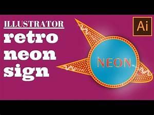 Create a Retro Neon Sign in Illustrator using Multiple