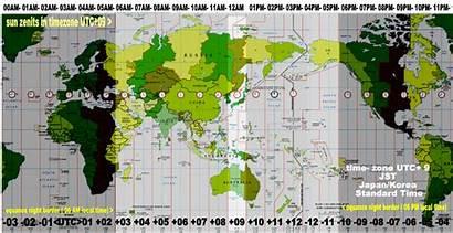 Utc Zones Map Timezones Zone Japan Timezone