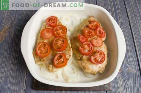 Garšīga vistas fileja ar sieru krāsnī