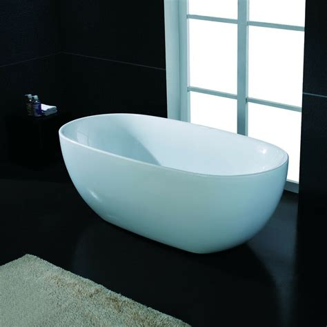 Freestand Bathtub by 67 Quot Modern Bathroom White Acrylic Free Standing Luxury
