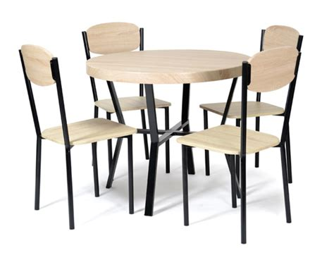but table de cuisine et chaises table 4 chaises casa noir chene
