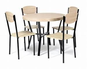 Table De Cuisine Et Chaises : table 4 chaises casa noir chene ~ Teatrodelosmanantiales.com Idées de Décoration