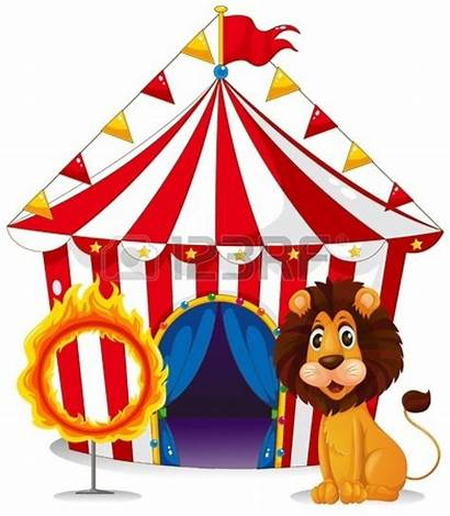 Circus Carnival Clipart Lion Tent Fire Ring