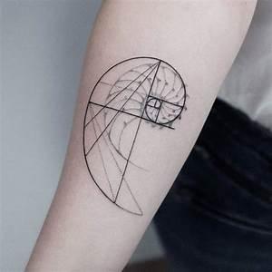 40 Amazing Fibonacci Tattoo Designs | TattooAdore