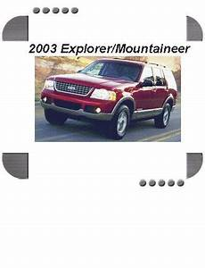 Ford Explorer  Mercury Mountaineer 2003 Factory Service