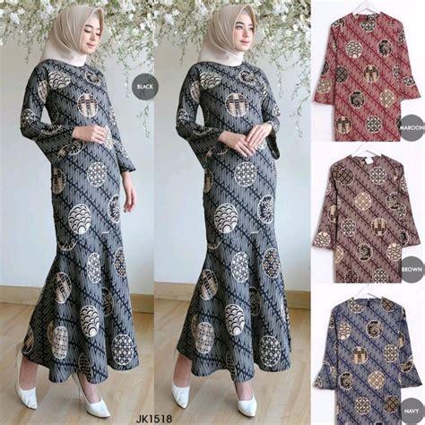 jual baju gamis wanita maidia batik dress muslim gamis