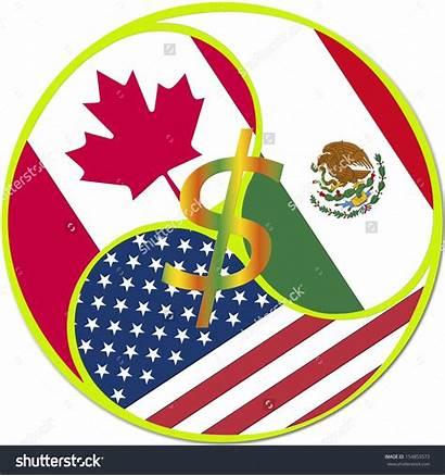 Nafta Trade Agreement Symbol North Mexico Canada