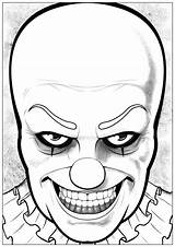 Clown Coloring Halloween Pennywise Pages Adults Drawing Drawings Draw Horrible Dare Printable Adult Easy Would Print Happy Dessin Coloriage sketch template
