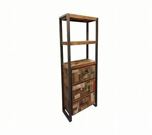 Bücherregal Metall Holz : regal industriedesign b cherregal metall holz breite 60 cm ~ Sanjose-hotels-ca.com Haus und Dekorationen