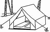 Tent Camping Coloring Pages Drawing Clip Wecoloringpage Template Drawings Sketch Getdrawings Snoopy Activity sketch template