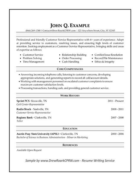 professional executive resume sles by drew