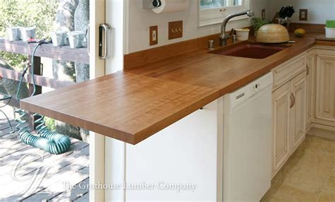 Custom Cherry Wood Countertop in Oakland, California
