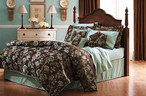 teal and brown bedroom home trendy