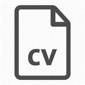Curriculum cv document file page resume vitae icon