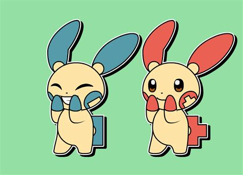 Plusle Minun Cheering Squads.gif